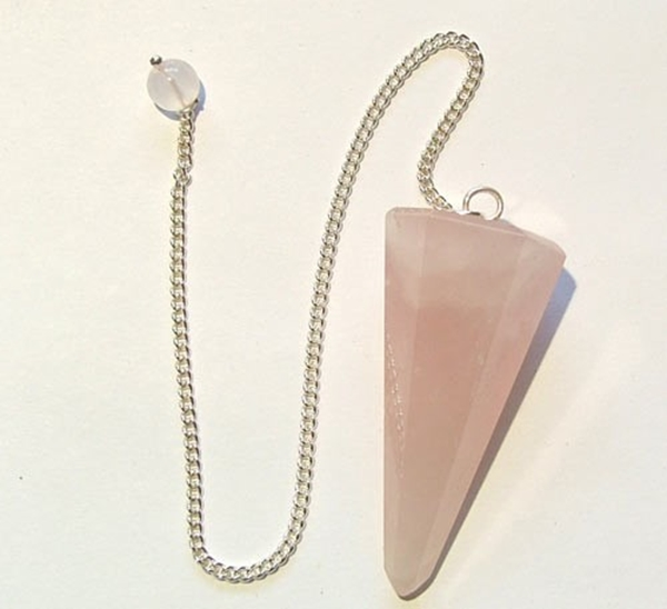 Picture of Pendulum 'Hexagonal' Cut - Rose Quartz