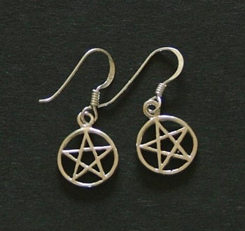 Picture of Pentacle Earrings - Sterling Silver