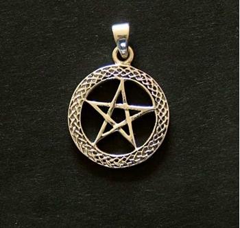 Picture of Pentagram - Celtic (Sterling Silver)