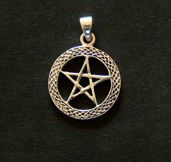 Picture of Pentagram - Celtic (Sterling Silver)