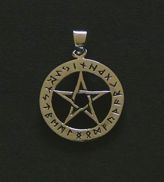 Picture of Runic Pentacle Pendant (Sterling Silver)