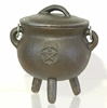 Picture of Cauldron (Mini) - Pentacle (With Lid)