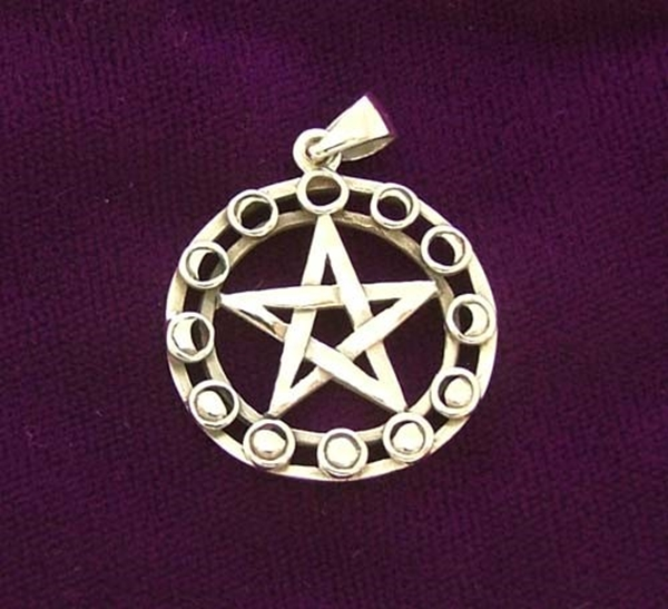 Picture of Pagan Moonphase Pendant (Sterling Silver)