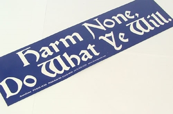 Picture of Bumper Sticker - Harm None