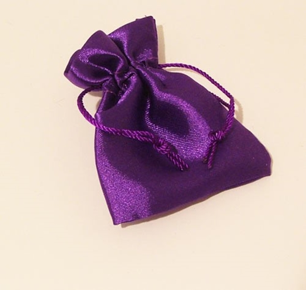 Picture of Satin Pouch - Purple (Sml)