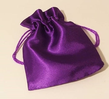 Picture of Satin Pouch - Purple (Lrg)