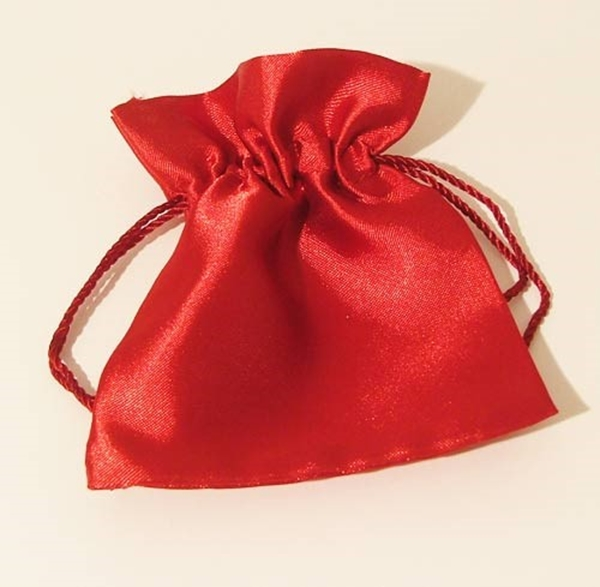 Picture of Satin Pouch - Red (Lrg)