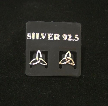 Picture of Earrings - Triquetra Studs (Sterling Silver)