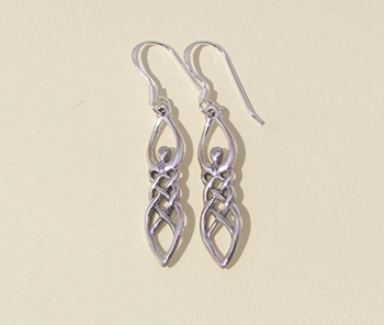 Picture of Celtic Goddess Earrings (Sterling Silver)