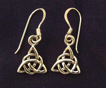 Picture of Celtic Triquetra Earrings (Sterling Silver)