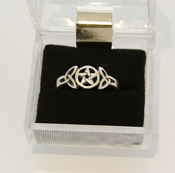 Picture of Pentacle and Triquetra Ring (Sterling Silver)