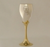 Picture of Chalice - Pentagram (Brass and Silver) 15cms