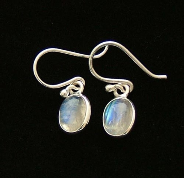 Picture of Moonstone Earrings - Sterling Silver