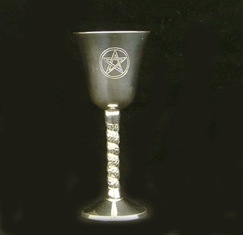 Picture of Chalice - Pentacle with Spiral Stem