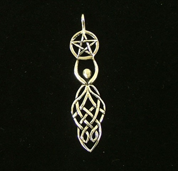 Picture of Celtic Goddess with Pentacle (Sterling Silver)