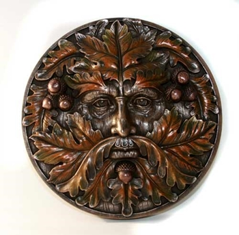 Picture of Oak Man Wall Plaque
