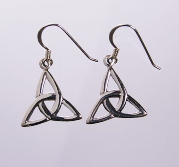 Picture of Triquetra Earrings (Medium) - Sterling Silver
