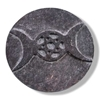 Picture of Triple Moon and Pentagram Altar Tile - Soapstone