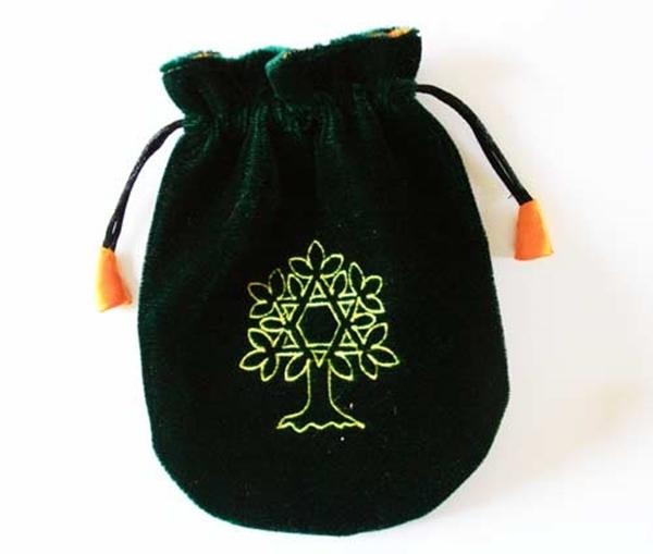 Picture of Tarot Bag - Tree of Life (Green Velvet)