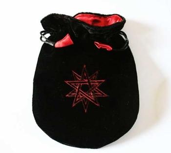 Picture of Tarot Bag - Double Pentagram (Black Velvet)