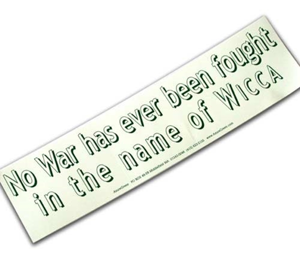 Picture of 'No War....' Bumper Sticker