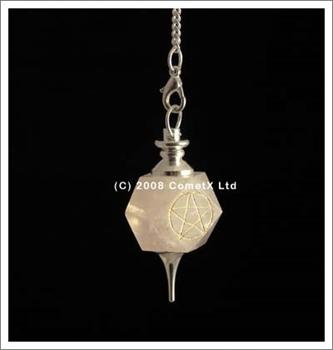 Picture of Pentacle Pendulum (Rose Quartz)