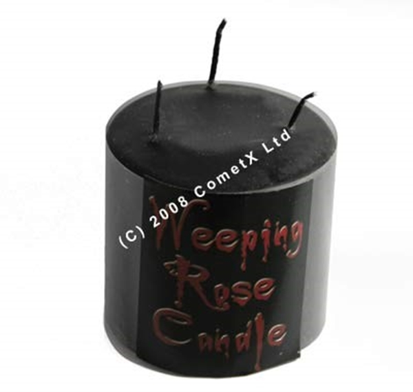 Picture of Weeping Rose Pillar Candle - Short (3 Wicks)