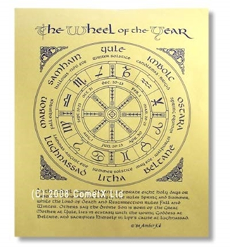 Picture of The Wheel of The Year - Quick Reference (A4)