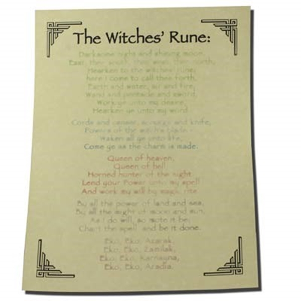 Picture of The Witches' Rune - Quick Reference Guide (A4)