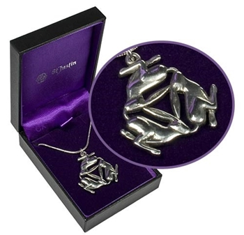 Picture of Triple Hare Pendant (Pewter)
