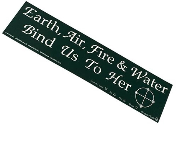 Picture of Bumper Sticker - Earth, Air, Water, Fire