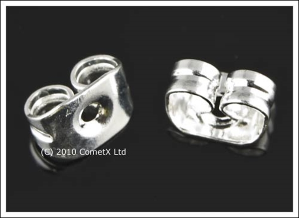 Picture of Scroll Earring Backs (Silver Plate) PK 20