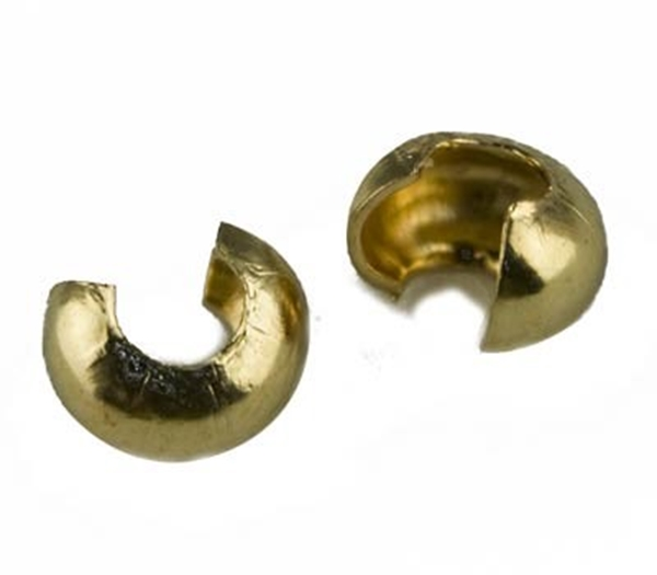 Picture of Crimp Covers 4mm (Gold Plate) - PK 10