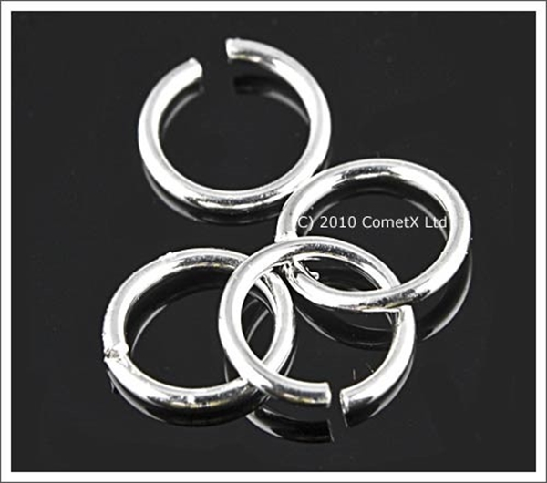 Picture of Jump Rings (Silver Plate) 6mm - Pk 100