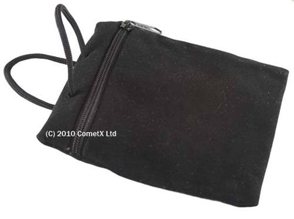 Picture of Velveteen Pouch - Zipped (Black)