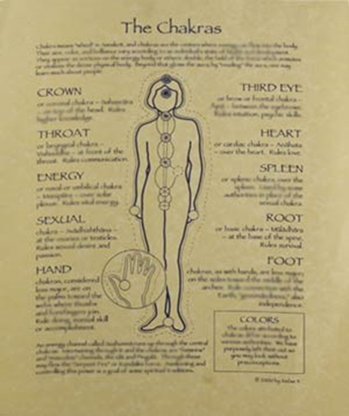 Picture of The Chakras - Quick Reference Guide