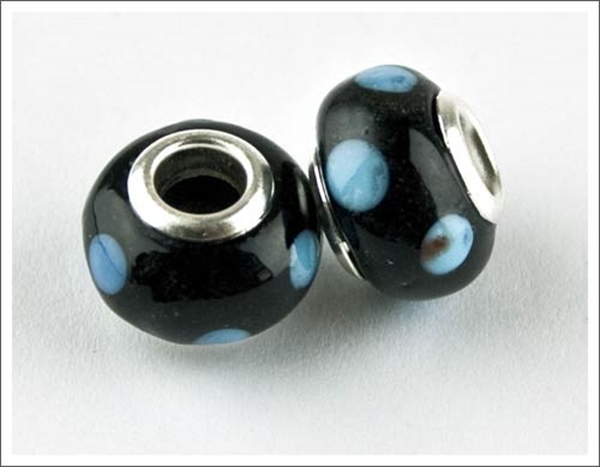 Picture of Pandora Style - BlackBlue Spot (Pk 2)
