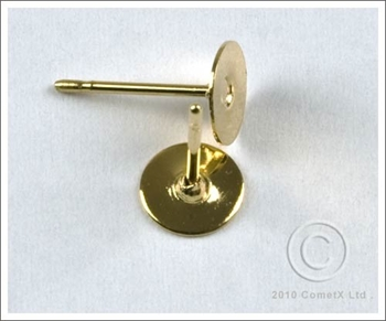 Picture of Ear Stud - 6mm Pad and Post (Gld Plate) 10 PAIRS
