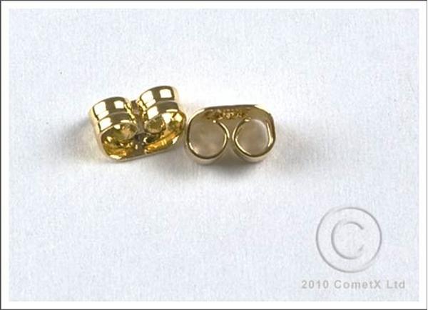 Picture of Scroll Earrring Backs (Gold Plate) PK 20