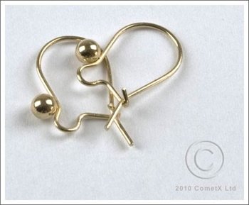 Picture of Ear Fittings - Hook Wire Guard and Bead (Gld Plate) 10 PAIRS