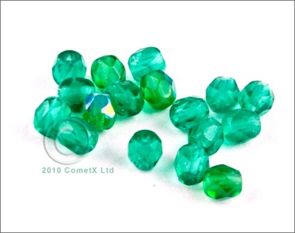 Picture of Emerald Faceted Glass - 4mm (PK 100)