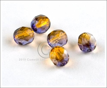 Picture of AmberViolet Faceted Glass - 6mm (PK 50)