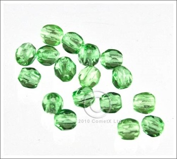 Picture of Peridot Faceted Glass - 4mm (PK 100)