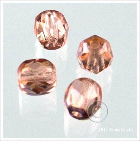 Picture of Pink (AB) Faceted Glass - 6mm (PK 50)