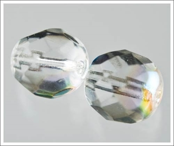 Picture of Crystal (AB) Faceted Glass - 8mm (PK 25)