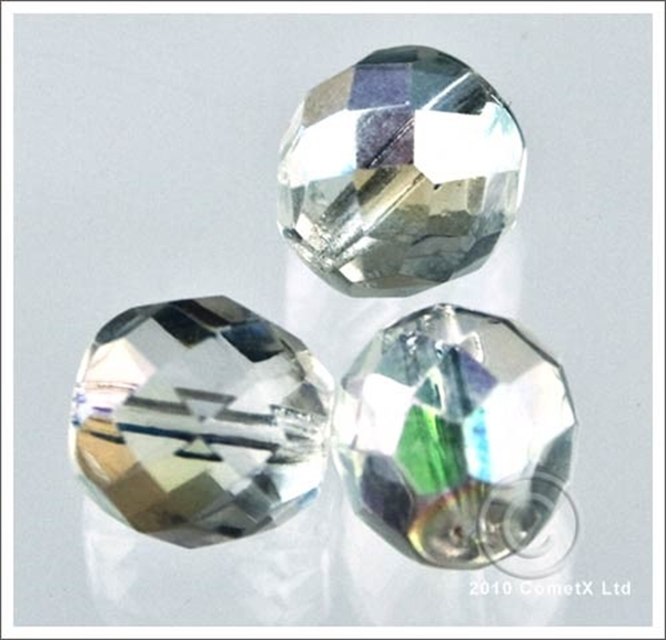 Picture of Crystal (AB) Faceted Glass - 10mm (PK 10)