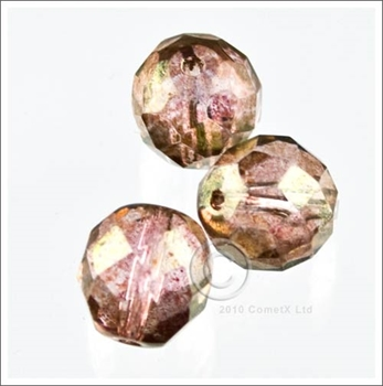 Picture of PinkAmber (AB) Faceted Glass - 10mm (PK 10)