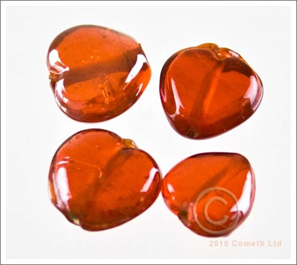 Picture of Lustre Heart (Orange) - 10mm (PK25)