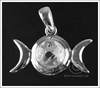 Picture of Triple Moon Pendant - Sterling Silver (with chain and box)