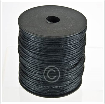 Picture of Cotton Thong (1.5mm) Black - Per Metre